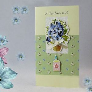 "Handcrafted gift card, ""A BIRTHDAY WISH"", (CD141)"